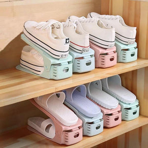 2019 New Shoe Rack Double Shoe Holder - A Shoe Storage Organizer Space Saving Storage Solution-Shoe Racks & Organizers-Cool Home Styling