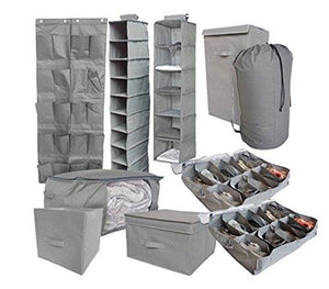 10Pc Complete Organization Set - Tusk Storage - Gray