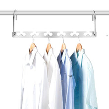 Load image into Gallery viewer, Storage organizer closet space saving hangers for clothes pants 10 5 inch metal wonder hangers stainless steel magic cascading hanger updated hook design closet organizer hanger