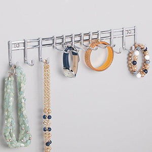 Latest bochens closet wall mount metal accessory organizer and storage center modern slim holder for women and men ties belts scarves sunglasses watches