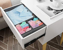 Load image into Gallery viewer, Get onlyeasy foldable cloth storage box closet dresser drawer organizer cube basket bins containers divider with drawers for scarves underwear bras socks ties 6 pack linen like grey mxdcb6p