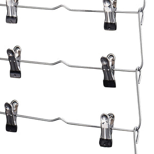 Kitchen doiown 6 tier skirt hangers pants hangers closet organizer stainless steel fold up space saving hangers 4 pieces