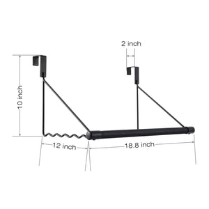 Best seller  magicfly over the door closet rod heavy duty over the door hanger rack with hanging bar for coat towels holder freshly ironed clothes black