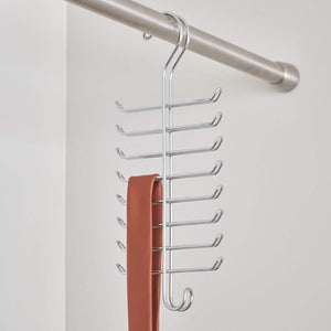 Budget friendly interdesign classico vertical closet organizer rack for ties belts chrome 06560