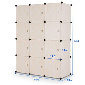 Related tangkula closet portable diy plastic stackable customizable bedroom dom dresser clothes closet wardrobe armoire organizing shelf cube storage with doors organizer closet 6 cubes 2 hanging sections