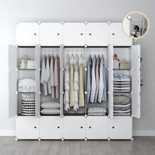 Load image into Gallery viewer, Top rated yozo modular closet portable wardrobe for teens kids chest drawer ployresin clothes storage organizer cube shelving unit multifunction toy cabinet bookshelf diy furniture white 25 cubes