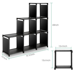 Budget tomcare cube storage 6 cube closet organizer shelves storage cubes organizer cubby bins cabinets bookcase organizing storage shelves for bedroom living room office black