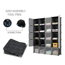 Load image into Gallery viewer, Save on kousi cube storage cube organizer cube storage shelves cubby organizing closet storage organizer cabinet shelving bookshelf toy organizer black varation 40 cubes