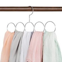 Load image into Gallery viewer, Budget friendly poeland 1kuan scarf closet organizer hanger no snag storage scarves ties belts shawls pashminas 2 pack