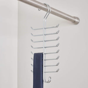 Buy interdesign classico vertical closet organizer rack for ties belts chrome 06560