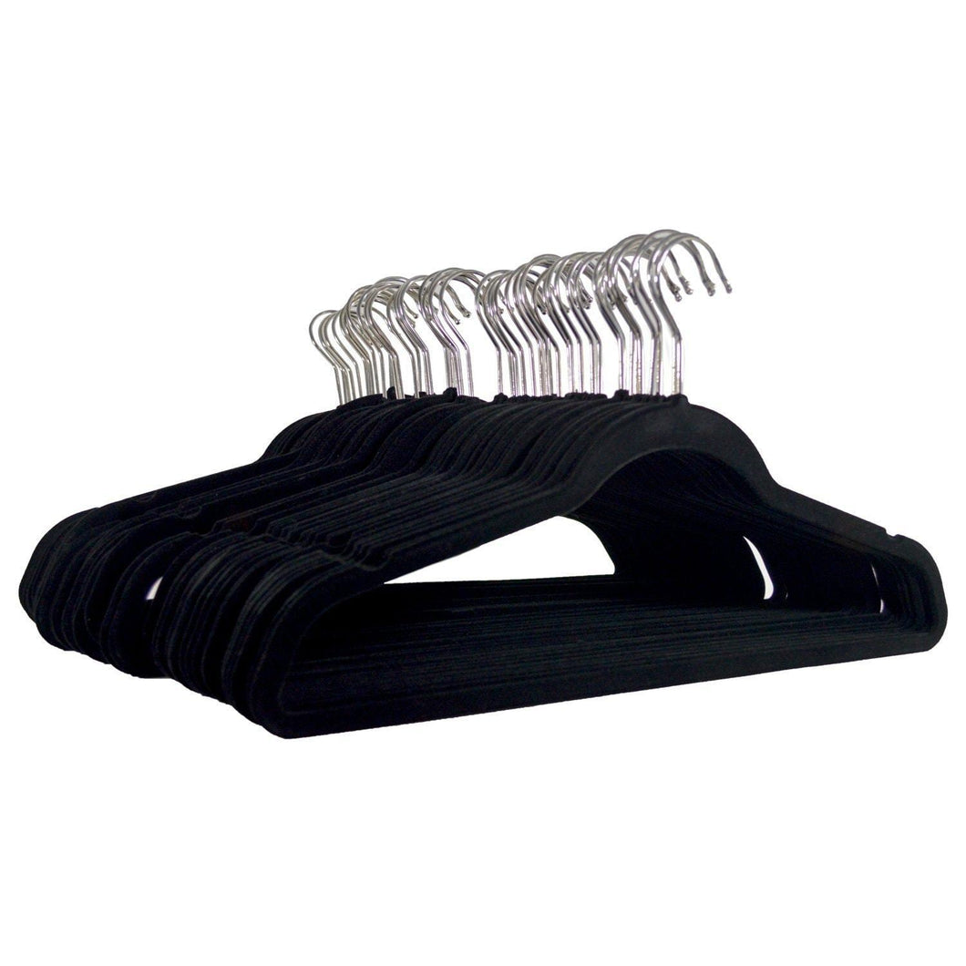 Amazon michael graves design premium ultra thin non slip velvet clothing hangers flocked durable closet space saving chrome hook for garments suits dresses pants shirts coats 50 pack black