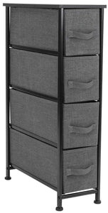 Products sorbus narrow dresser tower with 4 drawers vertical storage for bedroom bathroom laundry closets and more steel frame wood top easy pull fabric bins black charcoal