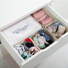 Load image into Gallery viewer, Amazon best dresser drawer organizer 8 pcs foldable storage box fabric closet storage cubes clothes storage bins drawer dividers storage baskets for bras socks underwear accessories home office bedroom