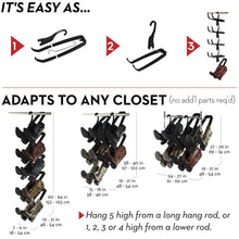 Load image into Gallery viewer, Exclusive boot butler boot storage rack as seen on rachael ray clean up your closet floor with hanging boot storage easy to assemble built to last 5 pair hanger organizer shaper tree