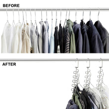 Load image into Gallery viewer, Shop for meetu magic cloth hanger wonder space saving hangers metal closet organizer for closet wardrobe closet organization closet system pack of 4