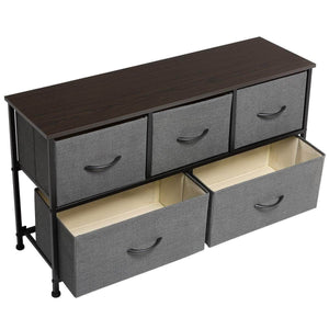 Home marble field 3 tier dresser drawer nightstands storage organizer dresser tower with 5 easy pull drawers and metal frame for your bedroom nursery closet entryway grey 32 37x11 31x29 84
