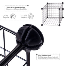 Load image into Gallery viewer, Selection unicoo multi use diy 12 cube wire grid organizer bookcase bookshelf storage cabinet wardrobe closet toy organizer wire cube storage black wire