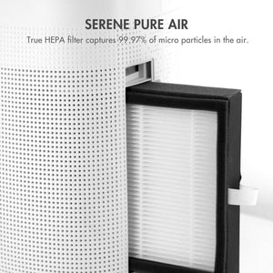Best seller  tenergy sorbi 1000ml air dehumidifier w air purifying function true hepa filter auto shutoff touch control adjustable air speed ultra quiet allergies eliminator ideal for closets and bathrooms