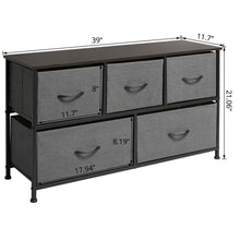 Load image into Gallery viewer, On amazon marble field 3 tier dresser drawer nightstands storage organizer dresser tower with 5 easy pull drawers and metal frame for your bedroom nursery closet entryway grey 32 37x11 31x29 84