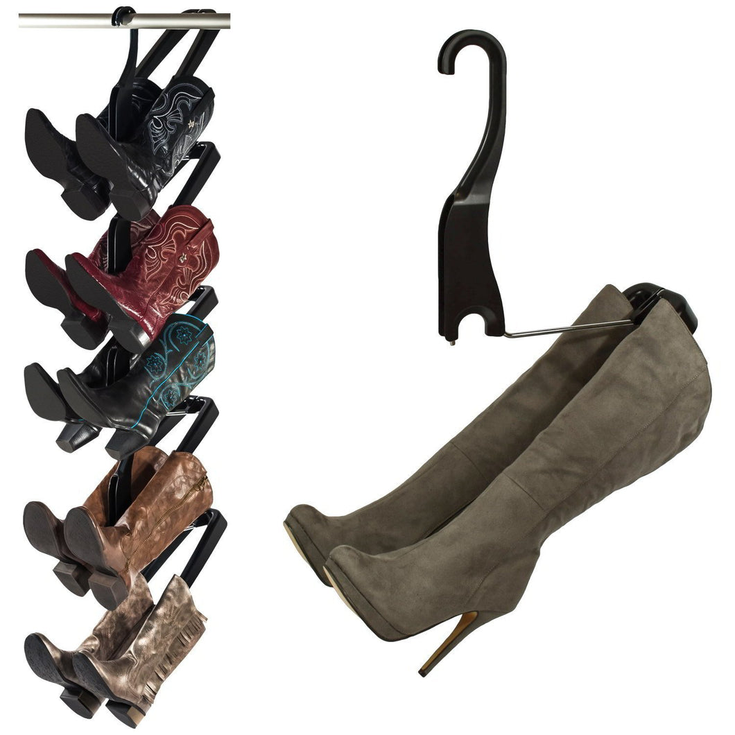 Buy boot butler boot storage rack as seen on rachael ray clean up your closet floor with hanging boot storage easy to assemble built to last 5 pair hanger organizer shaper tree