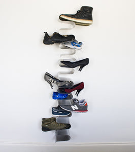 Heavy duty j me nest wall shoe rack shoe organizer keeps shoes boots sneakers and sandals off the floor a great wall mounted shoe storage solution for your entryway or closet