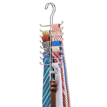 Load image into Gallery viewer, Budget interdesign classico vertical closet organizer rack for ties belts chrome 06560