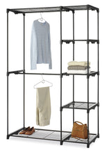 Load image into Gallery viewer, Best whitmor deluxe double rod freestanding closet heavy duty storage organizer