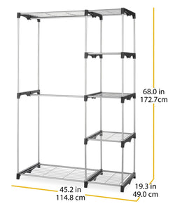 Buy whitmor double rod freestanding closet heavy duty storage organizer