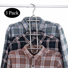 Load image into Gallery viewer, Purchase doiown multipurpose stainless steel closet hangers blouses shirt dresses scarf hangers organizer set of 3 non slip 3 pieces