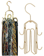 Load image into Gallery viewer, Budget friendly bt hanger tie rack tie holder tie hanger belt hook hangers in a closet organizer with non wood racks hold ties bow tie for men and mens belts and hanging accessories by rotating swiveling hooks