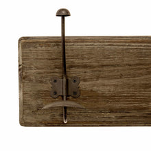 Load image into Gallery viewer, Buy now avignon home rustic coat rack with hooks vintage wooden wall mounted coat rack 38 inches wide and 7 inches high for entryway bathroom and closet