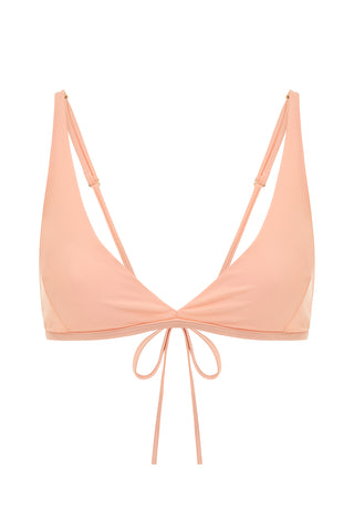 Essential Triangle Top - Peach