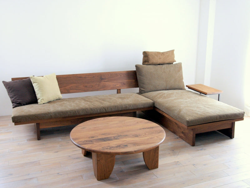 FREX WOOD LONG SOFA 084