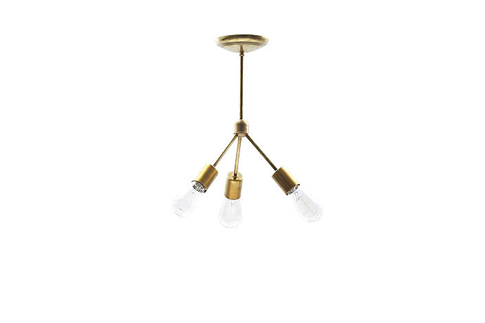 SOLID BRASS LAMP 3ARM 45°