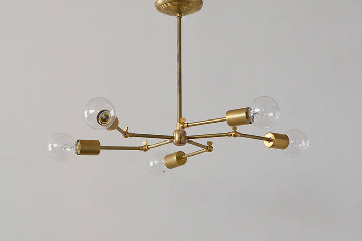 SOLID BRASS LAMP 5ARM