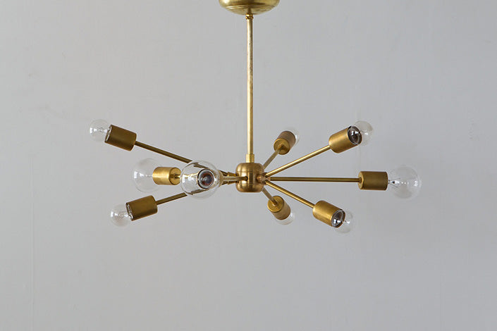 SOLID BRASS LAMP 9ARM