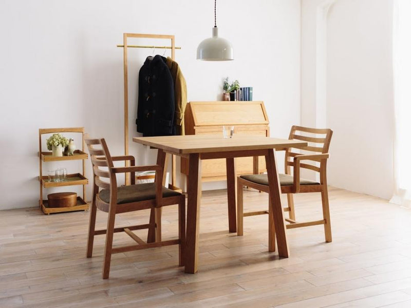 CORNICE SQUARE DINING TABLE 085(Solid Wood)