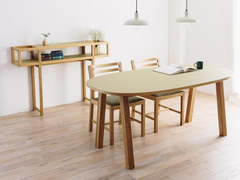 CORNICE OVAL DINING TABLE