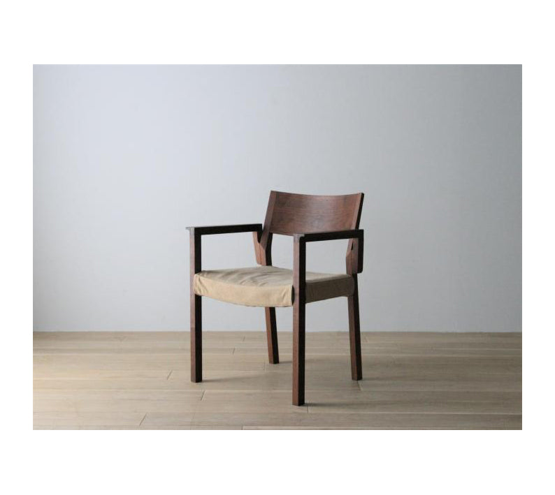 RIPOSO WOOD BACK ARM CHAIR