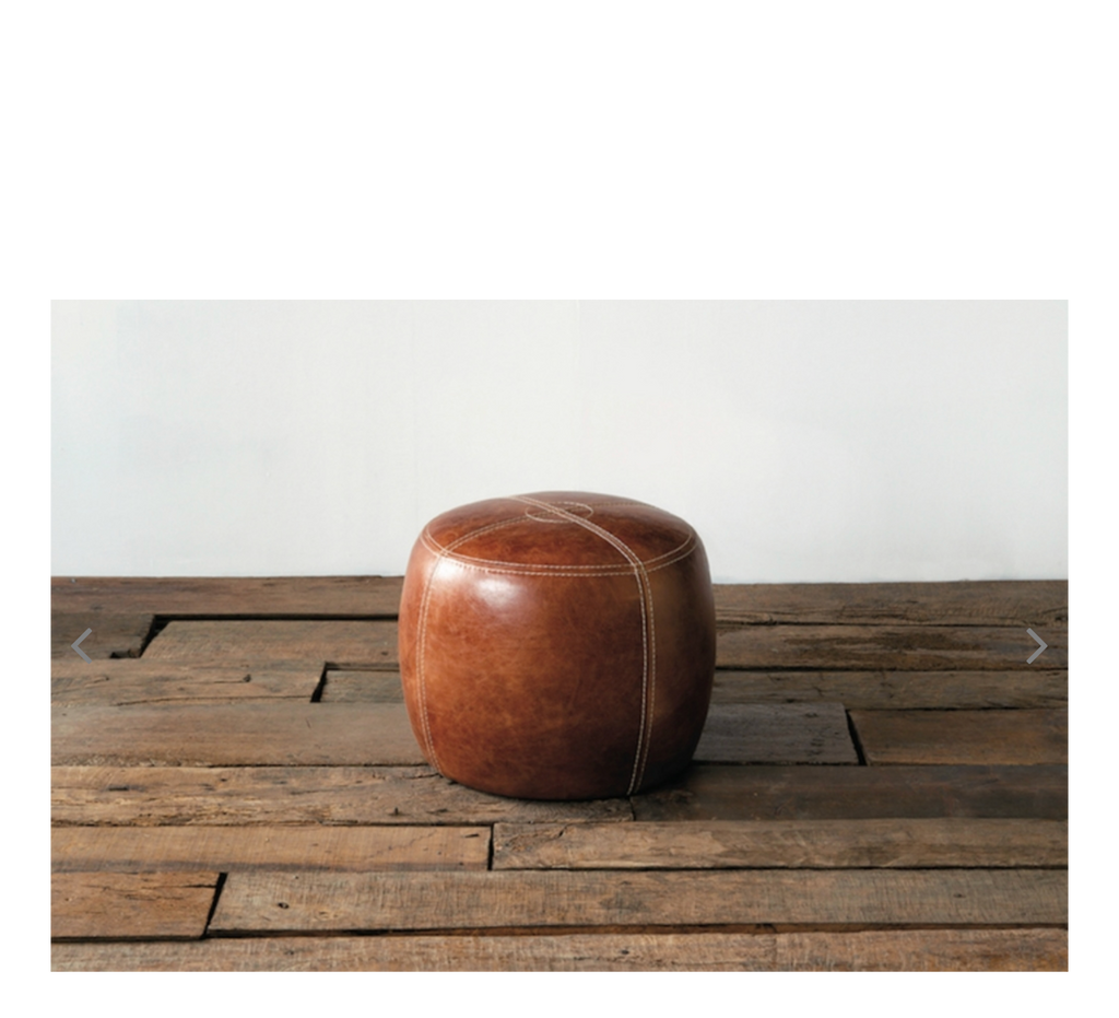 OAKS LEATHER STOOL