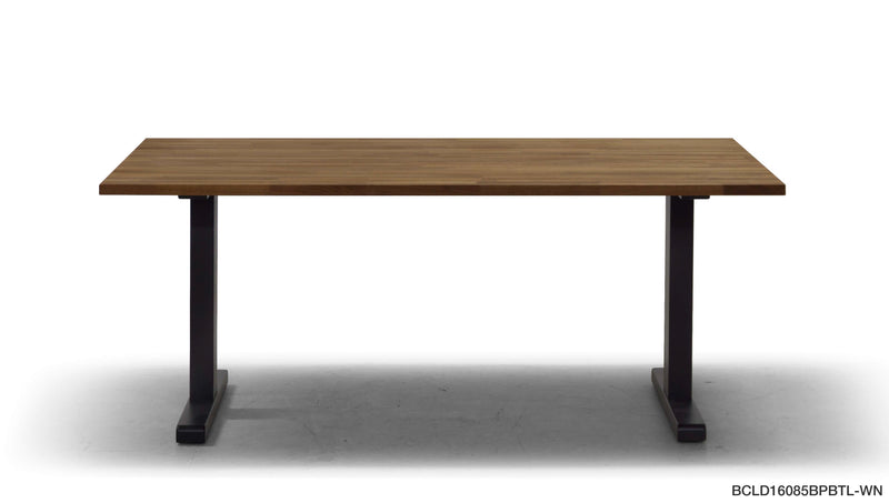 BRICK LOW DINING TABLE (WOODEN LEGS)
