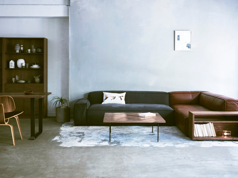 MANI SOFA 3P [RH] + SIDE TABLE (HO LEATHER)