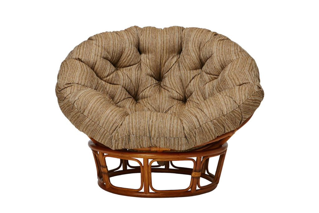 WICKER EASY CHAIR & STOOL