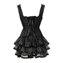 Load image into Gallery viewer, Vintage Lace Up Corset Dress
