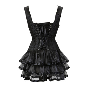 Vintage Lace Up Corset Dress