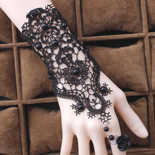 Load image into Gallery viewer, Gothic Lace Bracelet / Ring - Wearable Tattoo