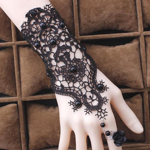 Gothic Lace Bracelet / Ring - Wearable Tattoo
