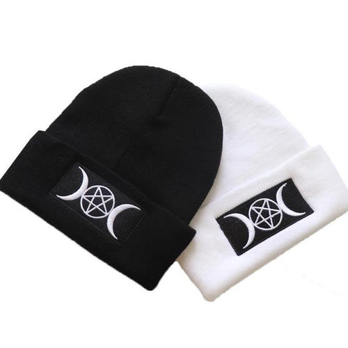 Goth Witch Beanie - Wearable Tattoo