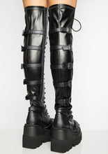 Load image into Gallery viewer, Platform Buckle Tight Boots - Wearable Tattoo