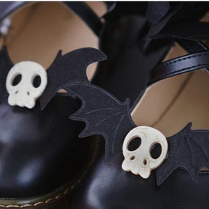 Bat Skull Shoe Clips